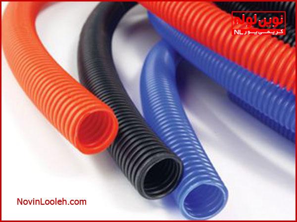 تولید لوله خرطومی در رنگ های مختلف